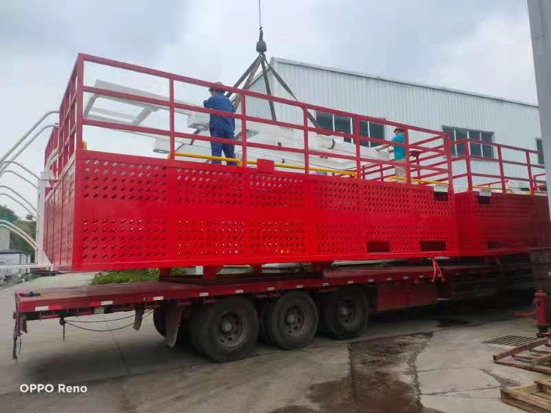 2021年5月17日制作完成的海上风电平台待装发货